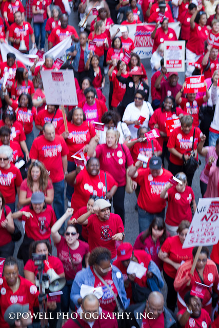 A Sea of Red: Chicago Teachers Union members reflect on how the social organizing model of unionism helped win the union's 2012 contract campaign