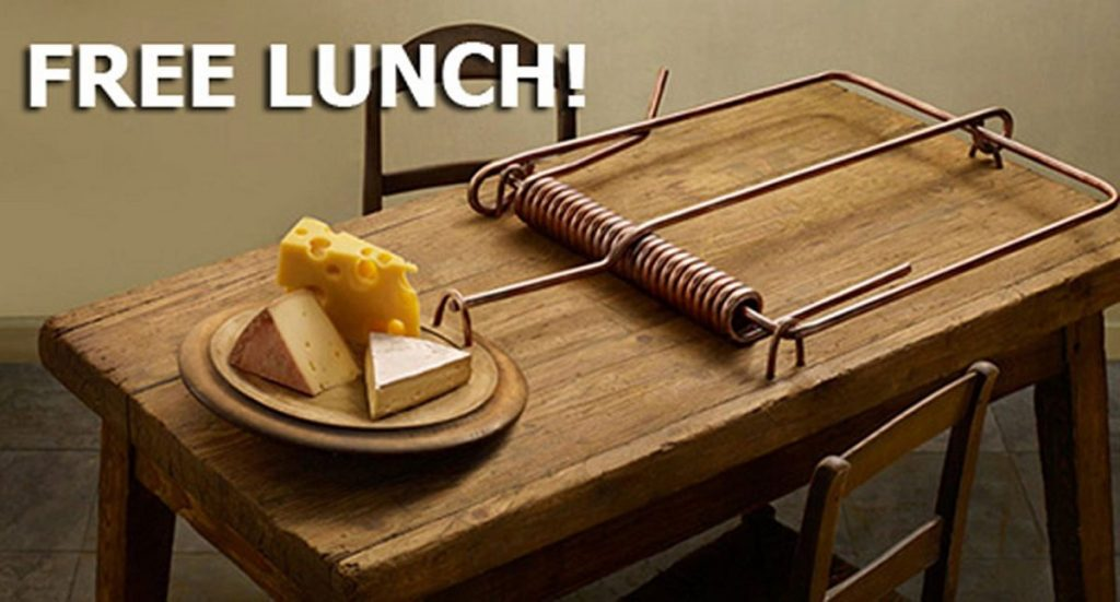Free lunch rat trap
