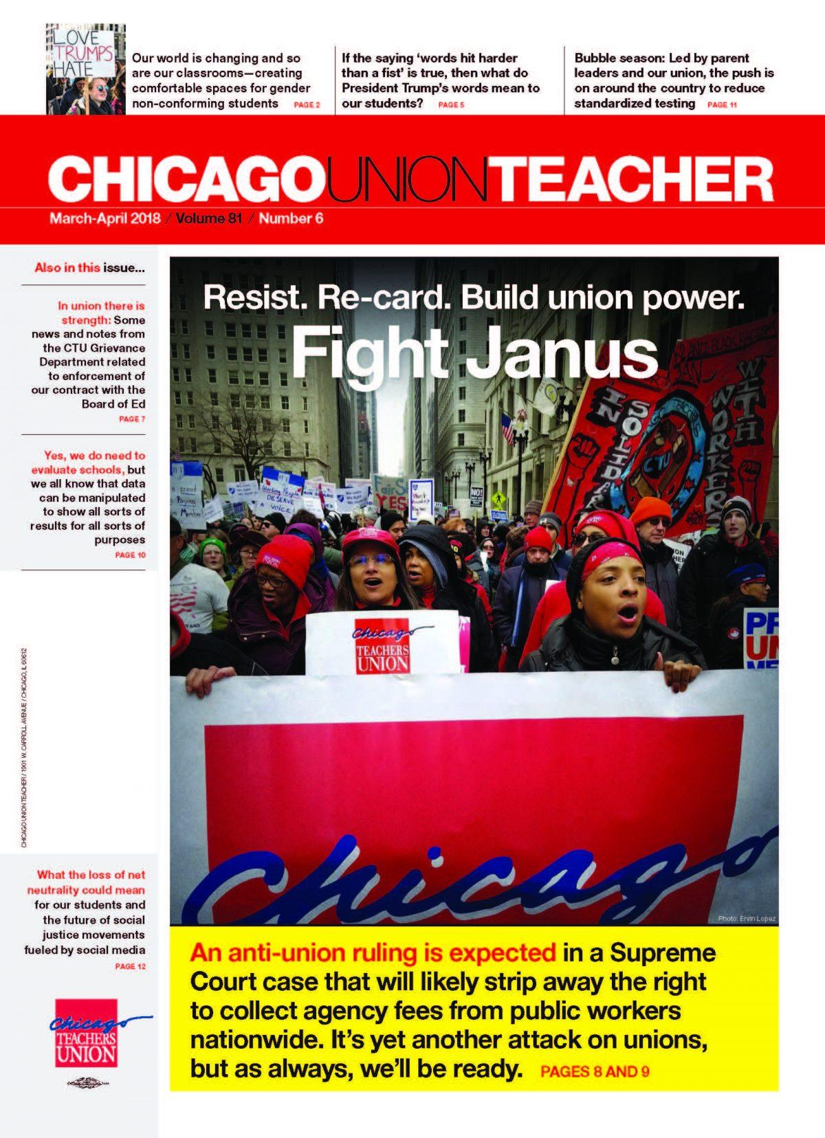 Teachers Union Leader We Wont Work With >> No 6 March April 2018 Chicago Teachers Union