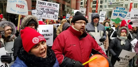 CTU strikers demand more for students.