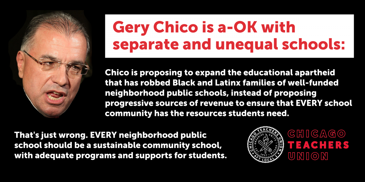 CTU to Chico: Don't expand separate and unequal school system