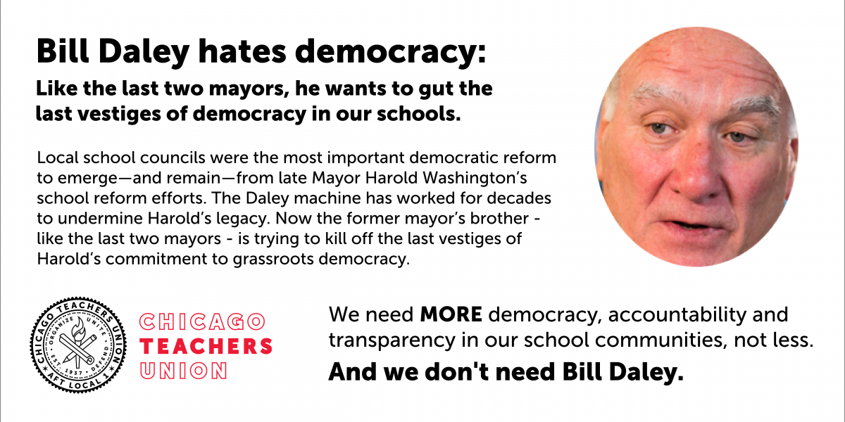 CTU to Daley: Hands off LSCs, the only remaining bedrock of democracy in our schools