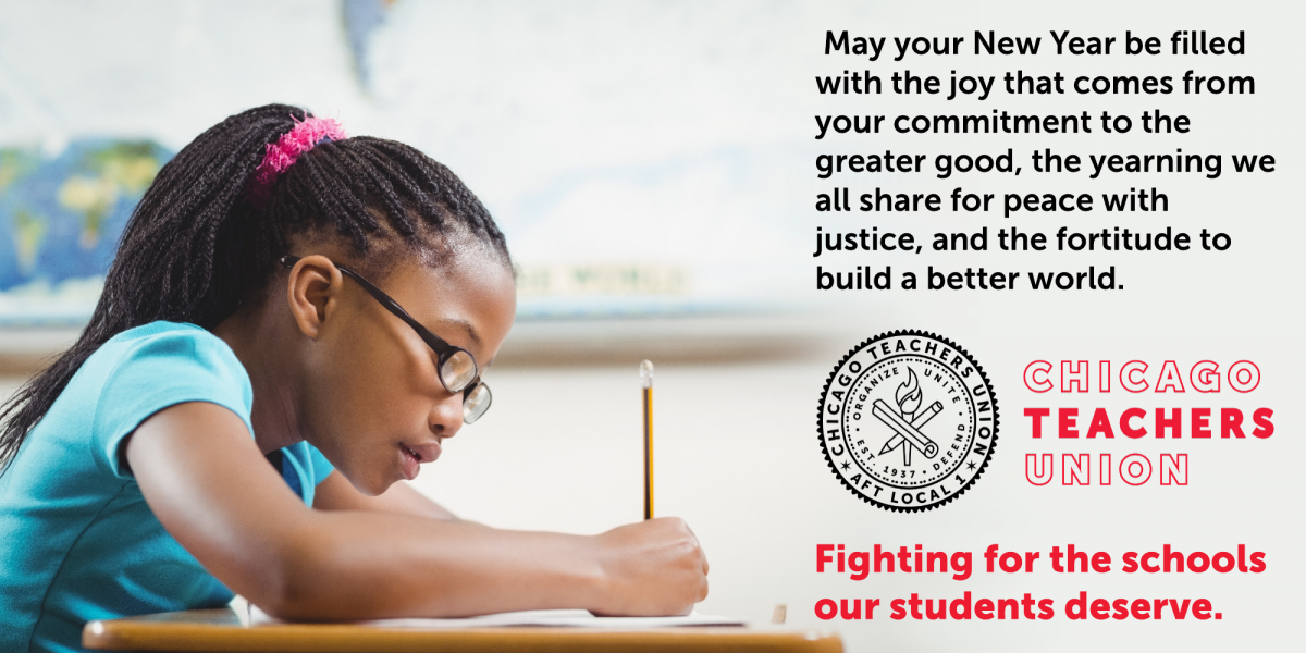 New Year's greetings from the officers of the Chicago Teachers Union