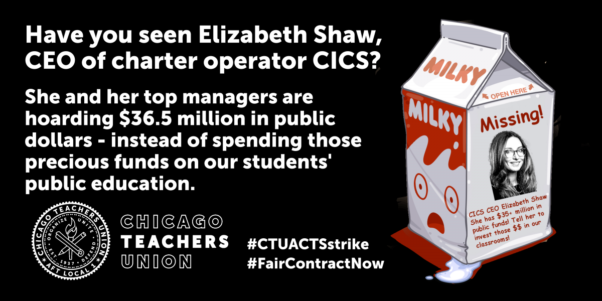 Strikers to take educational demands directly to CICS CEO