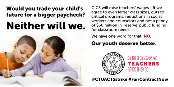 We won't trade our students' needs for a raise.