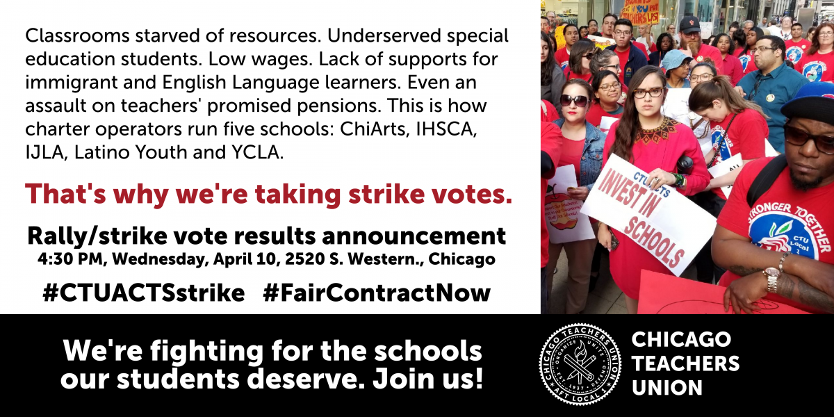 CTU charter members vote overwhelmingly to strike four operators at five schools