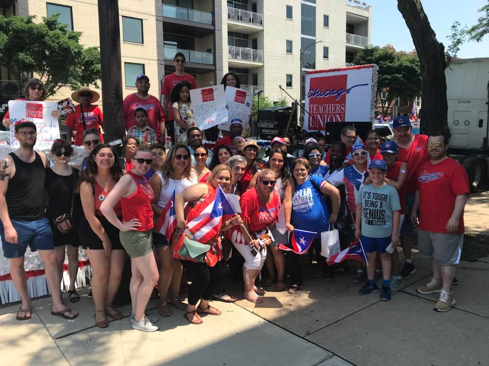 CTU members have a great time together marching in the annual Puerto Rican Parade!