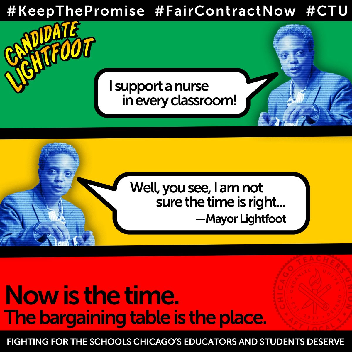 CTU to Lightfoot: Keep your promise and end toxic Rahm agenda in public schools