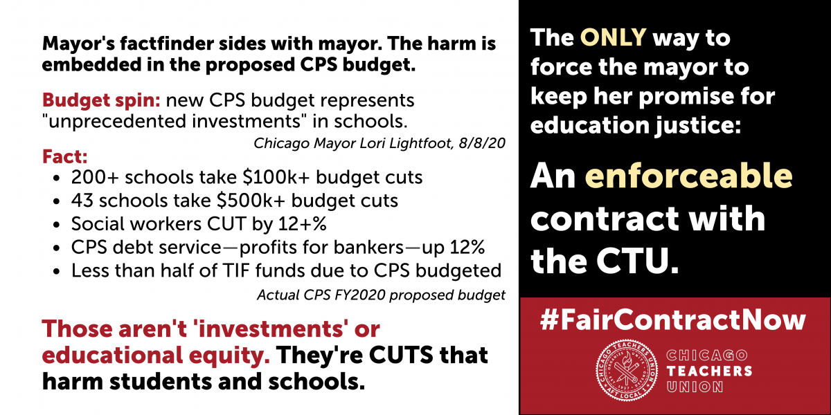 Tuesday, August 20, 3:45P – CTU to testify in opposition to CPS budget cuts