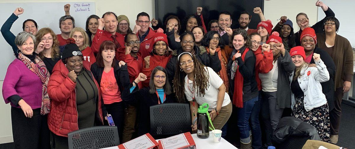 More than 30 members of the CTU bargaining team