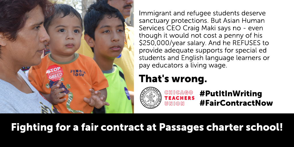 CTU members at Passages charter to announce strike date – fourth CPS charter strike in a year