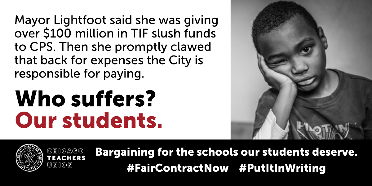 Lightfoot rips off CPS of $100 million, robs students and thwarts contract settlement