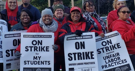 Veteran educators striking against unfair labor practices