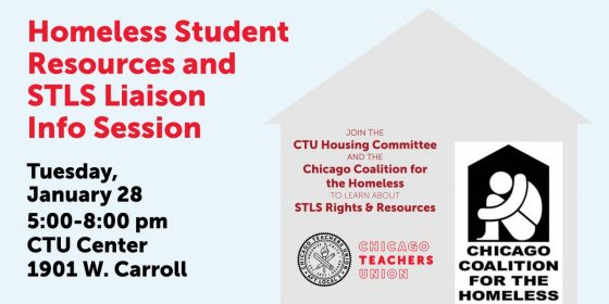 Homeless Student Resources and STLS Liaison Info Session @ CTU Center