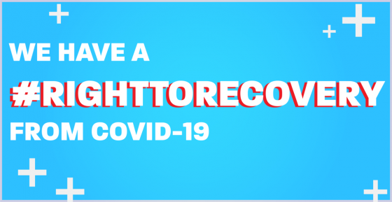 We have a #RightToRecovery from COVID-19