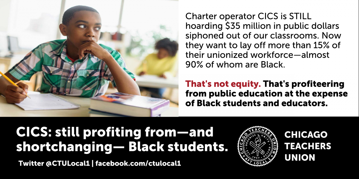 CTU frontline educators battle deep staffing cuts at CICS charter schools