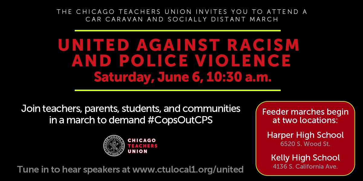 CTU to join students, grassroots groups calling for cops out of Chicago public schools