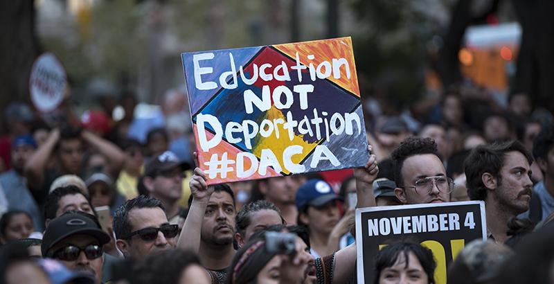 Protest Sign: Education not deportation