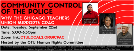 Community Control of the Police: Why the CTU Supports CPAC