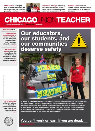 CUT Magazine 84-2. Headline: Our educators, our studens, and our communities deserve safety