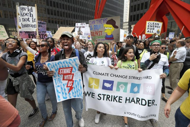Students rally at the climate strike September 20, 2019