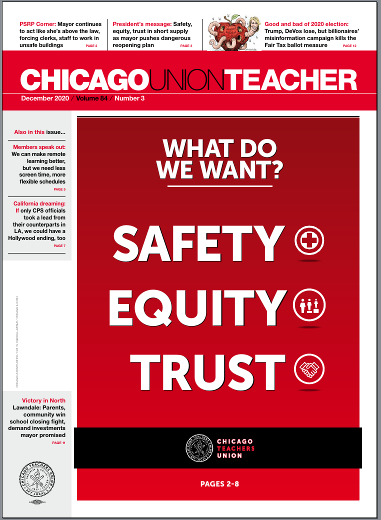 Cover of the September 2018 Chicago Union Teacher