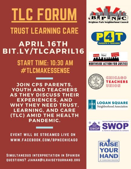 Forum for Parents, Educators and Community: CPS Reopening Needs Trust, Learning & Care