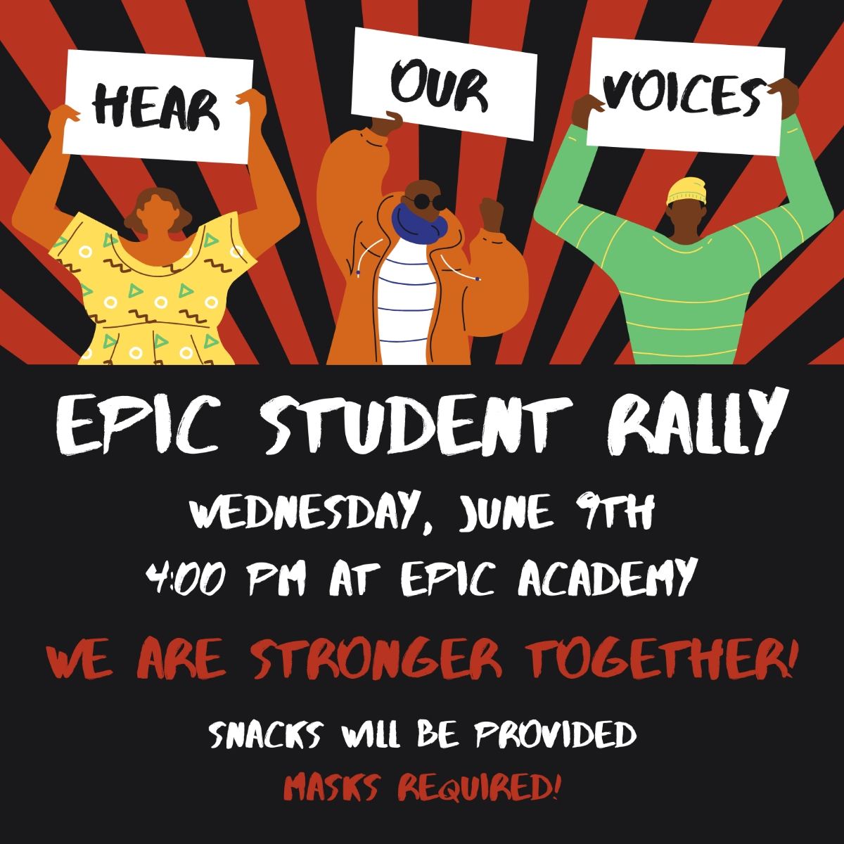 Epic charter students rally today for fired teachers