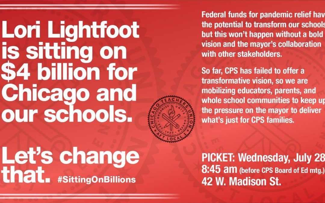 Mayor Lightfoot is sitting on $4 billion for Chicago and our schools