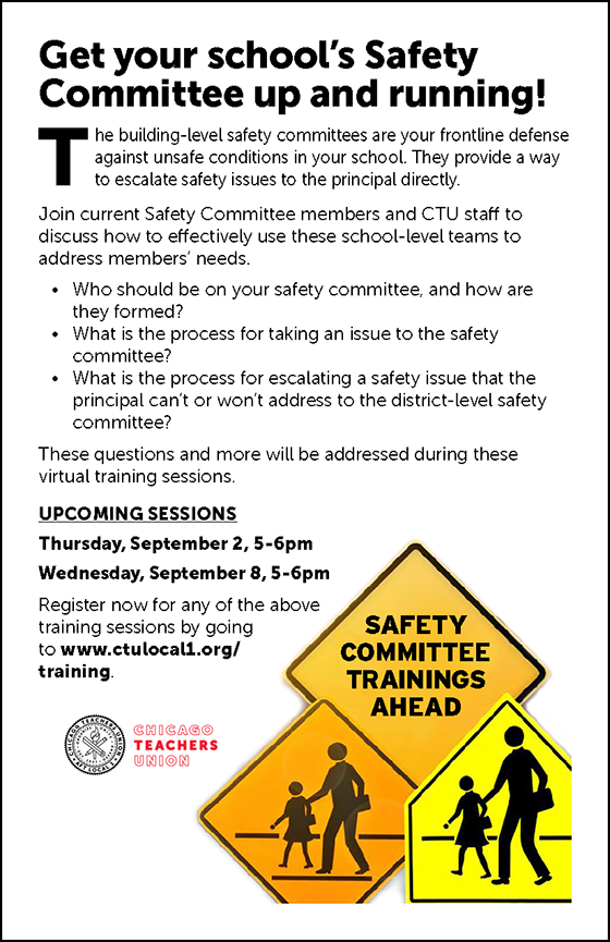 Get your school's Safety Committee up and running